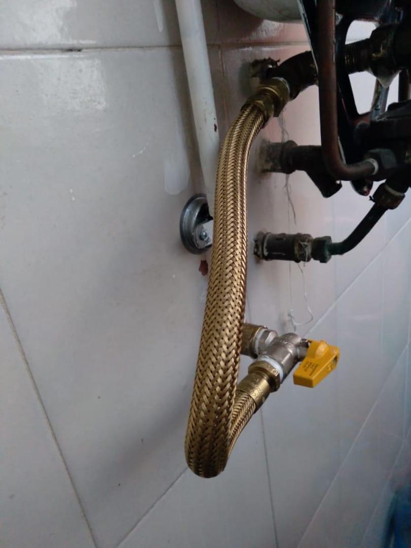 Braços Rio - Instalação do Registro do Gás